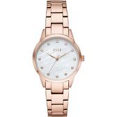 【ELLE】/優雅晶鑽貝殼面腕錶(男錶 女錶 Watch)/ELL25002/台灣總代理原廠公司貨兩年保固