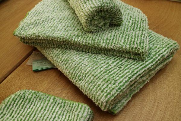 【新帛毛巾】彩條毛巾*2+彩條方巾*2
