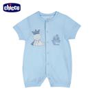 chicco-提織透氣短袖兔裝-小熊王子