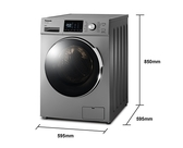 《Panasonic 國際牌》12公斤 變頻滾筒洗衣機 NA-V120HW-G (晶漾銀)