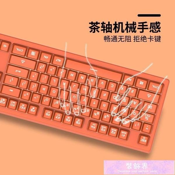 線控鍵盤斗魚真機械手感鍵盤電腦游戲辦公專用電競 装饰界
