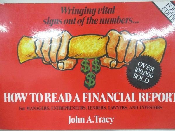 【書寶二手書T1/財經企管_D3G】How to Read a Financial Report: Wringing Vital Signs…