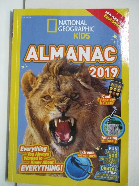 【書寶二手書T6/動植物_D43】National Geographic Kids Almanac 2019_National Geographic Kids (COR)