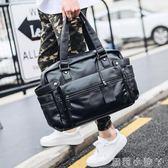 旅行袋新款男包包手提包單肩包斜背包男士潮包韓版旅行包休閒包大包 蘿莉小腳ㄚ