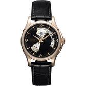 Hamilton漢米爾頓 JAZZMASTER爵士開心機械錶-黑x玫瑰金框/40mm H32575735