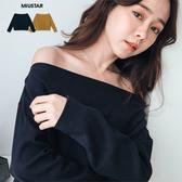 現貨-MIUSTAR 簡約氣質平領坑條螺紋上衣(共2色)【NF4508RE】