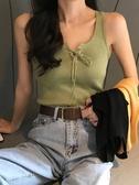 2019夏季韓版針織顯瘦性感外穿背心打底衫小吊帶內搭無袖上衣女