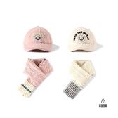 兒童帽子圍脖兩件套秋冬鴨舌帽加絨加厚保暖可愛針織圍巾【愛物及屋】