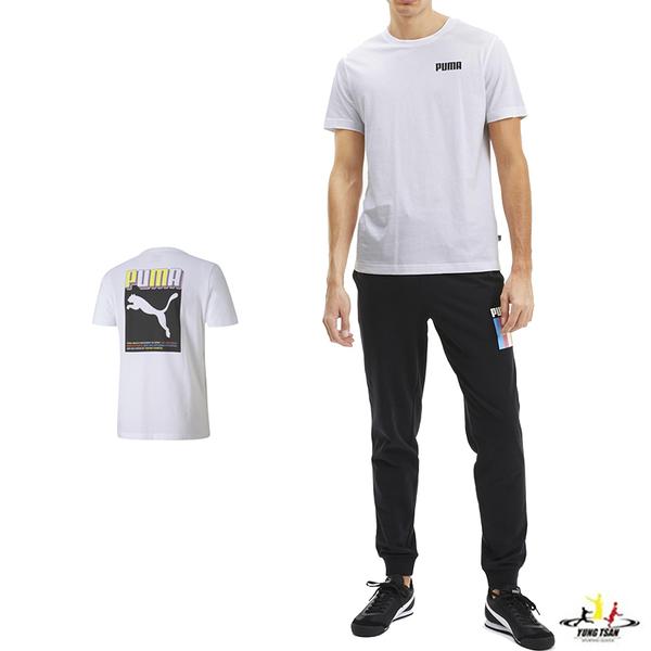 Puma Celebration 男 白色 短袖 運動 棉質 慢跑 圓領上衣 休閒 柔軟 舒適 T恤 58415202