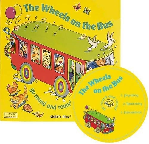 Classic Books With Holes:The Wheels On The Bus 公車趣事 童謠洞洞CD故事書