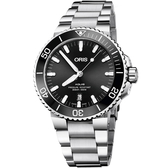 Oris 豪利時 Aquis 時間之海潛水300米日期機械錶-黑/43.5mm 0173377304134-0782405PEB