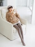 快速出貨 超彈顯瘦連褲襪女秋冬季加厚款日繫咖色踩腳打底襪