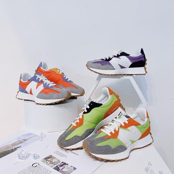 NEW BALANCE 327 新款 春夏配色 三色 紫 橘 綠 男女 MS327SFA/MS327SFC/WS327COA