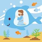 LOVIN 超萌韓版數字油畫 聖經故事系列-大魚肚裡的約拿(6) 1幅