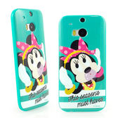 【Disney 】HTC One (M8) 時尚彩繪米妮保護套