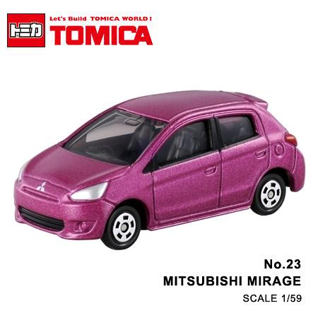 日貨 TOMICA No.23 MITSUBISHI MIRAGE 三菱 真車系列 汽車模型 多美小汽車
