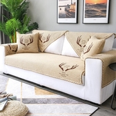 沙發墊四季通用布藝皮防滑夏季棉麻夏天實木三人坐墊子北歐套罩巾
