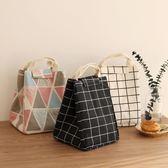 便當包簡約飯盒袋手提袋便當袋帶飯包保溫袋大號手提飯盒包便當包防水七夕禮物