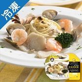 金品克里昂乳酪奶油海鮮麵410g/盒【愛買冷凍】