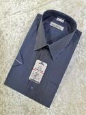 【Yeman Shirt 26671-1】丈青配灰白條紋 長袖/短袖 男襯衫