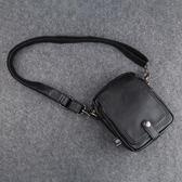 潮牌日系男包時尚男士小包包迷你單肩背包休閒斜跨手機包運動掛包