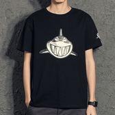卡通鲨魚印花男學生短袖  t恤潮牌青少年男體恤ins潮流2019新款