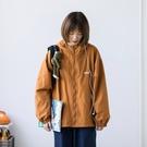 夾克外套 日系2021復古中性BF風沖鋒連帽開衫男女休閒夾克春秋寬鬆款外套