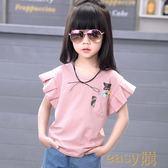 黑五購物節 女童短袖t恤2018新款夏裝韓版寬鬆半袖中大童兒童純棉體恤上衣