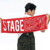 熱力舞台運動毛巾 STAGE  STGC TOWEL 黑色/紅色 兩色