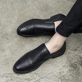 商務鞋男 夏季防臭男士商務休閒小皮鞋男韓版尖頭軟面皮潮流英倫正裝男鞋子 俏女孩
