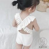 兒童連身泳衣女童嬰兒寶寶泳裝幼兒韓國游泳衣【貼身日記】