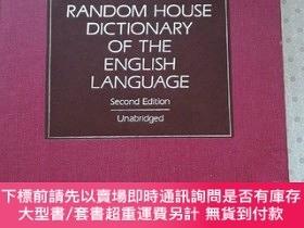 二手書博民逛書店The罕見Random House Dictionary of The English Language Seco