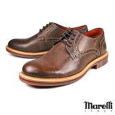【Marelli】仿舊擦色德比休閒鞋  咖啡(28100-BR)