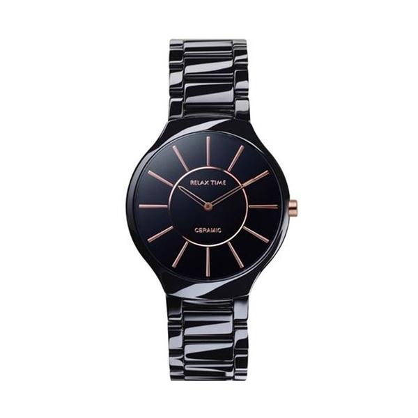 【Relax Time】超薄簡約時尚陶瓷腕錶-玫金針(小)/RT-33-7L/台灣總代理公司貨享一年保固