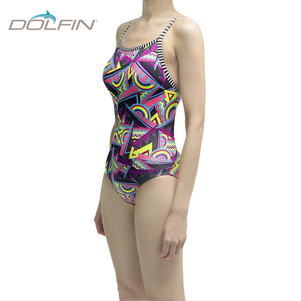 美國拓芬DOLFIN女性運動連身泳裝Flashback