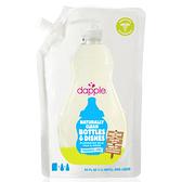 dapple 奶瓶及餐具清潔液-無香精1L(補充包)