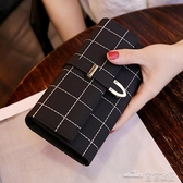 新款錢包女長款磨砂日韓大容量多功能三折女式錢夾皮夾手拿包(聖誕新品)