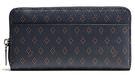 COACH F75405 男士菱格紋長款錢夾黑色菱格紋手拿包