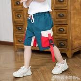 男童工裝褲外穿寬鬆中褲中大童褲子夏季韓版兒童五分褲薄款短褲潮 格蘭小舖