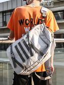 潮牌原創休閒後背包男大容量帆布高中學生書包女韓版男士旅行背包