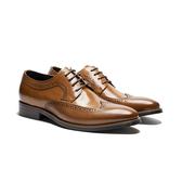 Waltz-蠟感雕花紳士鞋212577-06棕