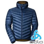 ODLO 男 防風連帽高領羽絨外套-『墨水藍』525902 伸縮 保暖 防風 防潑水 登山 戶外 旅行
