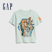 Gap男幼童輕柔舒適圓領短袖T恤574681-蔚藍色