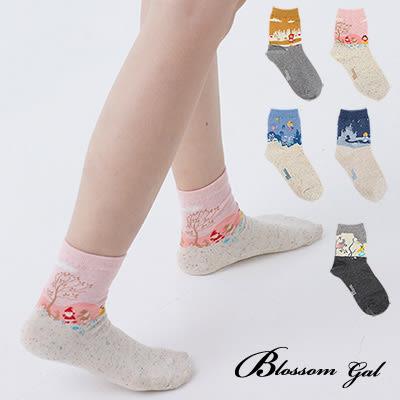 Blossom Gal 美好童話故事造型短襪(共5色)