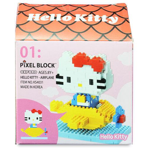 【OXFORD BLOCK】Hello Kitty 搭飛機小積木組 KT00301