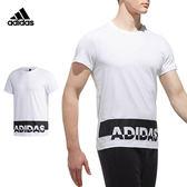 Adidas Gfx T Lng Puff 男 白 短袖 運動上衣 短T 大學T 棉 毛圈棉衛衣 愛迪達 短袖T恤 CX4965