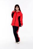 M2R雨衣,二件式 套裝式 風雨衣 M7/黑紅~林森