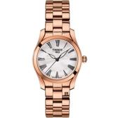 TISSOT 天梭 優雅玫瑰金 手錶 (T1122103311300)珍珠母貝/30mm