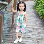 女童套裝 寶寶吊帶套裝1一6嬰兒衣服女小童洋氣兒童