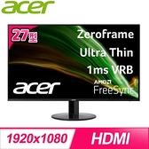 【南紡購物中心】ACER 宏碁 SB271 27型 IPS 廣視角螢幕